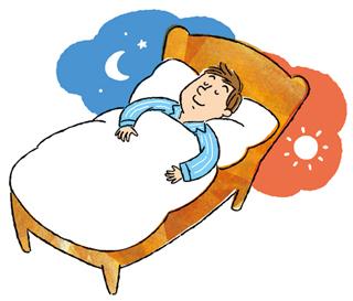 就寝時の気の流れ